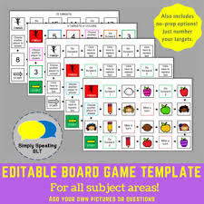 Editable Board Game Templates