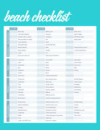 The Ultimate Beach Packing List Next Stop Coconut