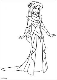 Coloring Page About Aladdin Disney Movie Drawing The Beautiful Princess Jasmine In A Ballgown