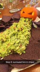Picture Of Pumpkin Throwing Up Guacamole by Halloween Spooky Food Ambs Loves Food