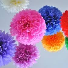 Get Quotations Free Shipping 1000pcs 4 10cm Tissue Paper Pom Poms Flower Balls Party Wedding Home Birthday Tea