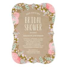 Rustic Bridal Shower Invitations Announcements