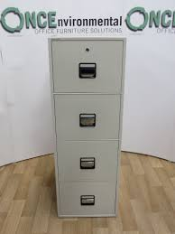 Used Fireproof File Cabinets 4 Drawer by Used Office Storage Phoenix 2224 Fireproof 4 Drawer Filing Cabinet