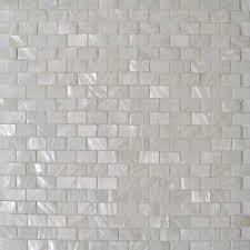 of pearl shell sheet white seashell mosaic subway tile mesh