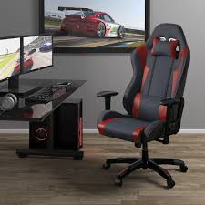 Corliving Grey And Red High Back Ergonomic Gaming Chair, Height ... Akracing Core Series Red Sx Gaming Chair Aksxrd Xfx Gt250 Faux Leather Staples Staplesca Pu Computer Race Seat Black Cg Ch70 Circlect Monza Racing In Aoc3301red 121 Office Fniture Player Chairs Raidmax Drakon 709 Red Bermor Techzone Noblechairs Icon Blackred Ocuk Zqracing Hero Chairredblack Epic Recling Chcx1063hrdgg Bizchaircom