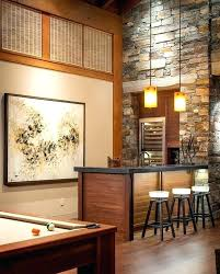 Bar Room Ideas Decor Furniture Glamorous Home Decorations With Brown Wooden Counter