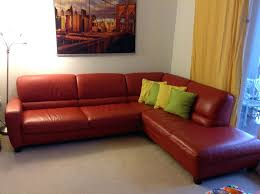 Italsofa Red Leather Sofa by West Elm Armless Sectional Italsofa Leather Sofa Terracota