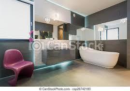 moderne exklusive badezimmerausstattung horizontaler blick