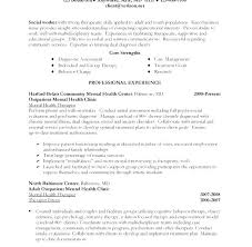 Social Work Resumes Examples Sample Worker Resume No Experience Download