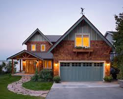 Craftsman Style Garage Doors Exterior Rustic With Entry Covered