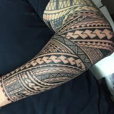 Hawaiian Tribal Tattoo Sleeves Wallpaper