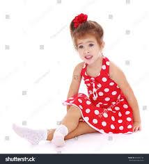little red dress white polka stock photo 264361142 shutterstock