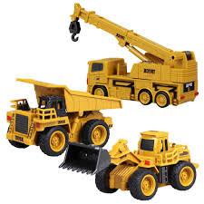 100 Kids Dump Truck RC Cars Truck Excavator Crane Emulational Engineering Vehicles Building Toy Mixer Model Construction Mini Burrow Funny