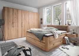 schlafzimmer 15 kernbuche oder wildeiche massiv mit schubkastenbett 4 teilig