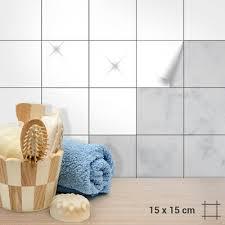 fliesenaufkleber 15x15cm weiß matt o glänzend für küche bad dusche langlebig