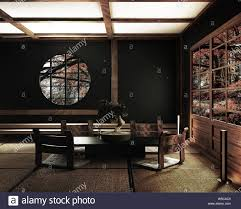 interior design modernes wohnzimmer mit tisch katana