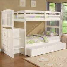 dillon white twin bunk bed with stairway storage bunk bed