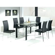 Table And 6 Chairs Kitchen Tables With Black Glass Dining