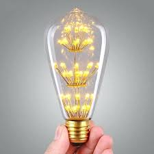 led vintage light bulb gold tint st18 shape edison style antique
