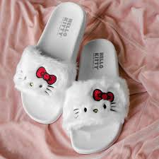 Chinelo Slide Hello Kitty White BandUP Store Hello Kitty