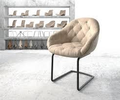 delife esszimmerstuhl gaio flex freischwinger rund schwarz vintage braun kaufen otto