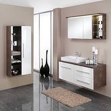 pharao24 badezimmermöbel set mit waschtischkonsole weiß rost