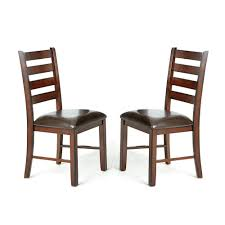 100 Woods Sao Paulo Brown Side Chair Set Of 2