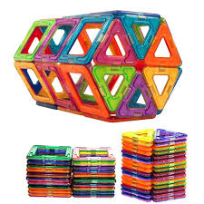 Picasso Tiles Magnetic Building Blocks by Hilco Bucketful Of 22 Magnetic Blocks Ebay