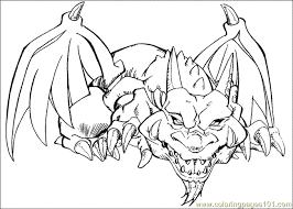 Yu Gi Oh Thousand Dragon Coloring Pages For Kids Printable