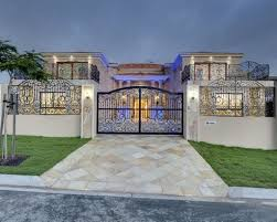 Luxury Home Ideas With Stone Pathway And Beautiful Black Metal ... Best House Front Yard Fences Design Ideas Gates Wood Fence Gate The Home Some Collections Of Glamorous Modern For Houses Pictures Idea Home Fence Design Exclusive Contemporary Google Image Result For Httpwwwstryfcenetimg_1201jpg Designs Perfect Homes Wall Attractive Which By R Us Awesome Photos Amazing Decorating 25 Gates Ideas On Pinterest Wooden Side Pergola Choosing Based Choice