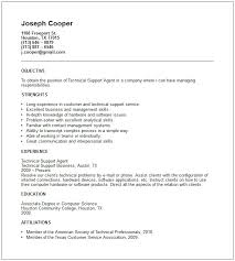 Resume Samples For Technical Jobs Support Example Latest Also Cv