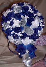 Blue Silver Wedding Bouquet