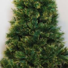 Silvertip Fir Christmas Tree Artificial by 7ft Green Artificial Tree Gold Glitter Tips Hinged Branches
