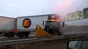 100 Estes Truck Lines VIDEO Accident On New Jersey Turnpike I95 YouTube