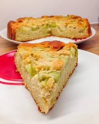 einfacher rhabarberkuchen rezept fitness kuchen mit