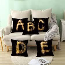 1pc 45x45cm englisch alphabet buchstaben kissenbezug kissen kissenbezug home decor j
