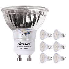 dicuno gu10 led bulbs 5w warm white 3000k 450lm 120 degree beam
