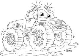 Lightning Mcqueen Monster Truck Coloring Pages
