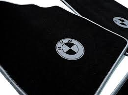 bmw e30 cabriolet floor mat set velours black grey logo trim