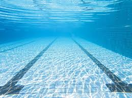 Download Underwater View Of The Swimming Pool Stock Image