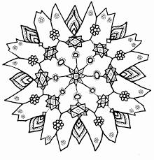 Snowflake On Christmas Coloring Page
