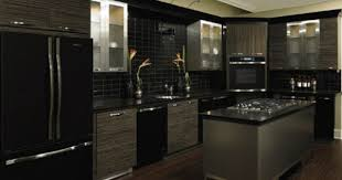 Kitchen Ideas Black Awesome Modern With Appliances 1000 About