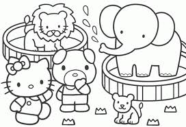 Coloring Pages Printable Animal Games For Toddlers Free Online Painting Wonderful Kids Color Hello Kitty