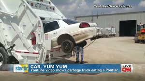100 Garbage Truck Youtube Watch Garbage Truck Eat An Entire Car CNN Video