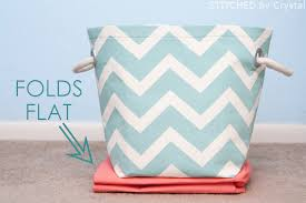 Decorating Fabric Storage Bins by Make Your Own Fabric Storage Baskets With Handles A Great