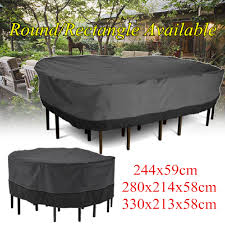 Large Garden Patio Furniture Rectangle Round Table Cover Waterproof Outdoor