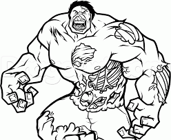 Zombie Hulk Colouring Pages 4824 Marvel Zombies Coloring