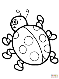 Cute Ladybug Coloring Page Within