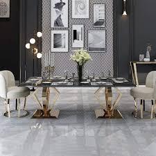 zeus marmor esstisch metall naturstein gold silber