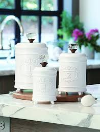 Ceramic Kitchen Canister Sets Mud Pie Kitchen Canister Set Of 3 White